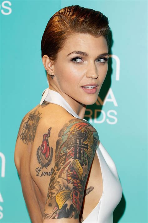 what does ruby rose neck tattoo say wcw ruby ruby and hair