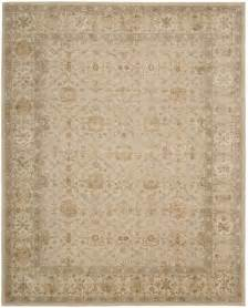 Wool Area Rugs 9x12 9x12 8 6 Quot X 11 6 Quot Nourison 3000 3103 Beige Traditional Wool Silk Area Rug Ebay