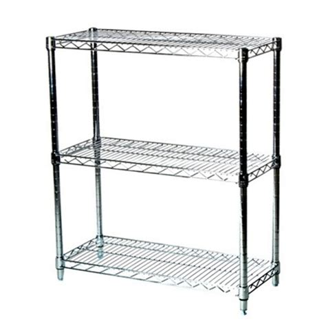 3 Tier Wire Shelf by 14 Quot D Three Tier Wire Shelving Kit