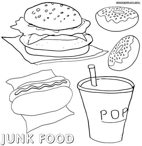 junk food coloring pages coloring pages to download and