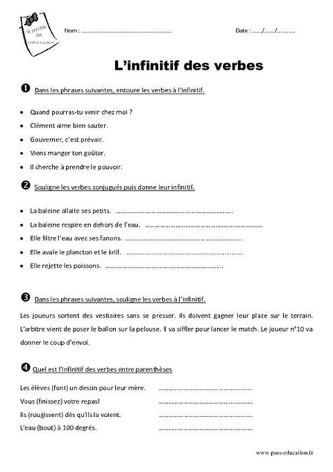 Essaye Pour Voir Anglais by Infinitif Ce2 Exercices Exercices Ce2 Exercices Exercice Ce2 Et Le Verbe