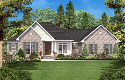 4 Bedroom Ranch Floor Plans Country Plan 1 600 Square Feet 3 Bedrooms 2 Bathrooms