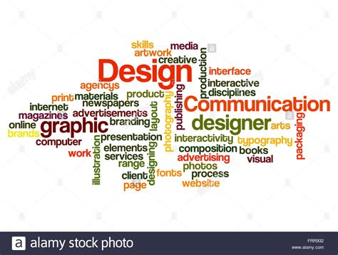 design concept words list graphic design concept word cloud on white stock photo
