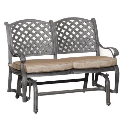 providence outdoor glider bench world source quot moab quot collection patio glider bench things