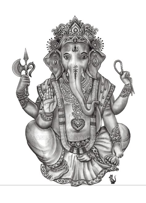 Ganesh Tattoo Deviantart   ganesh by asussman on deviantart