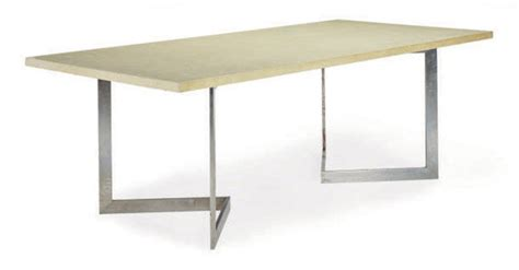 Brushed Metal Dining Table A Brushed Metal And Lacquer Dining Table Designed By Francoise See Circa 1960 For