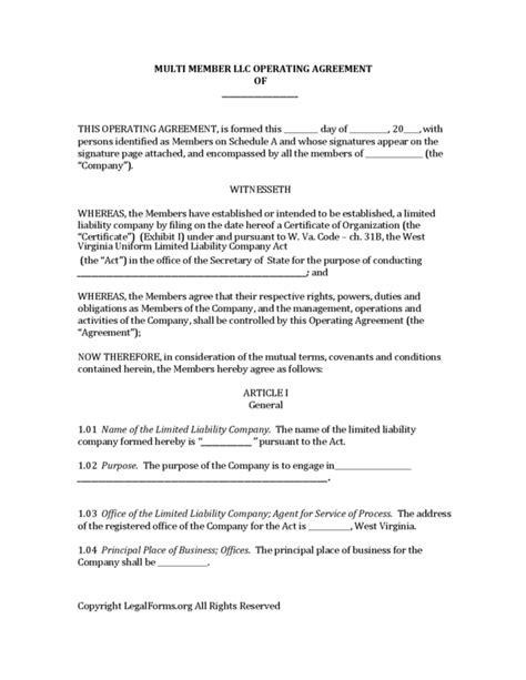 operating agreement llc virginia template operating agreement llc virginia template 28 images 30