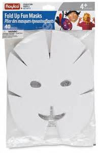 Paper Mask Template by Roylco Fold Up Masks Class Pack Blick Materials