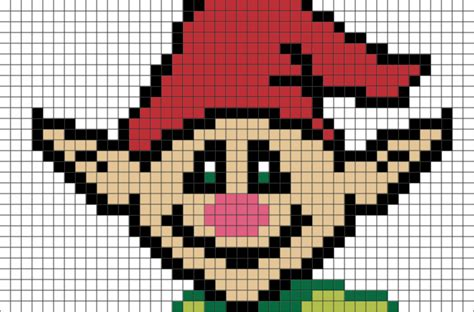 christmas elf pixel art brik