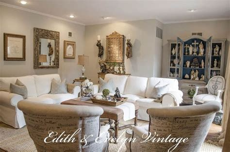 country vintage home decor transforming a family room in a vintage country
