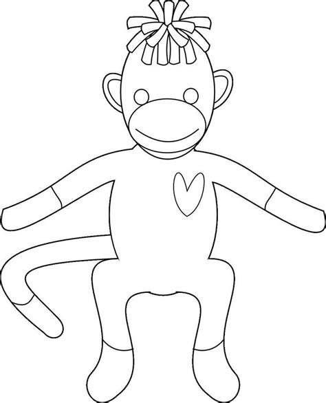 Coloring Pages Of Sock Monkey | sock monkey coloring pages az coloring pages