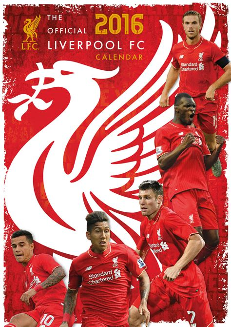 liverpool official 2017 calendar liverpool fc calendars 2018 on europosters