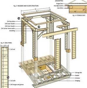 2d Blueprint Software Free custom gazebo plans 10ft square deluxe open air gazebo