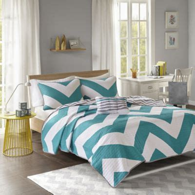 teal and grey chevron bedding buy teal and grey chevron bedding from bed bath beyond