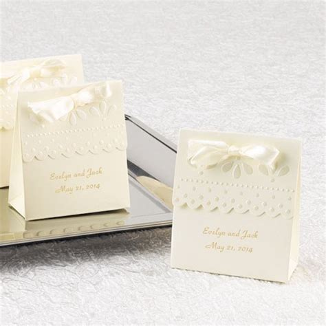 Personalized Scallop Favors, Scalloped Favor Boxes