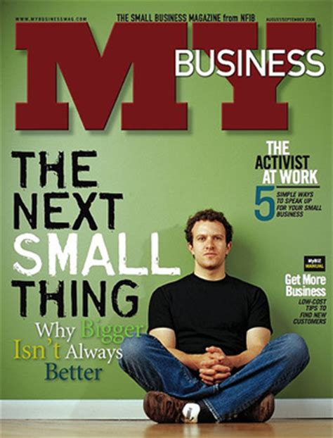 Small Home Business Magazine My Business Magazine The Next Small Thing Signal Vs