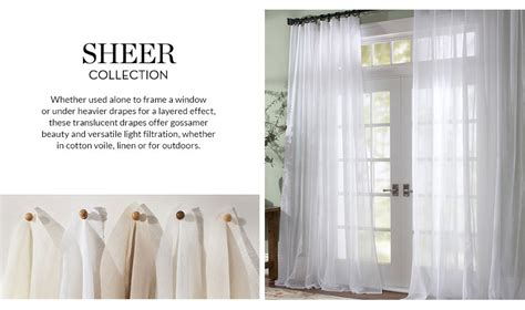 sheer curtains pottery barn curtains drapes window coverings pottery barn