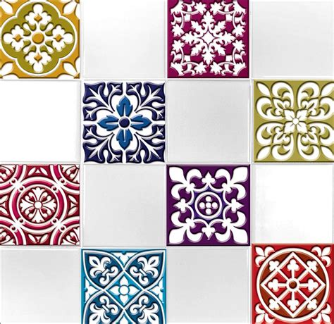tile transfer stickers bathroom 9 tile transfer stickers 4 quot x 4 quot moroccano for kitchen