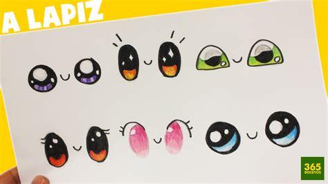 imagenes de ojos faciles de dibujar como dibujar ojos kawaii paso a paso dibujos kawaii
