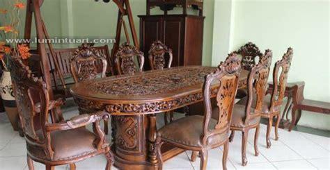 Meja Makan Ganesa jual kursi meja makan ukiran kayu jati jepara ganeas set