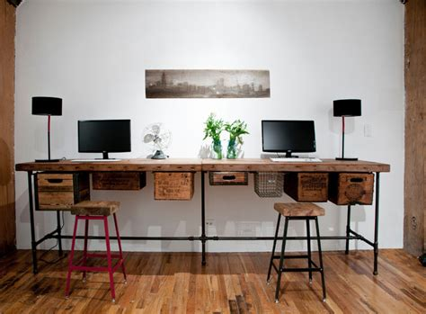 reclaimed wood desks and home office furntiure