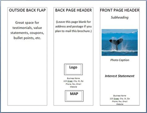 How To Fold A Paper Into A Brochure - how to make a brochure in ms word 2007 printaholic