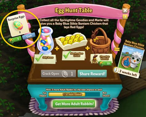 The Kitchen Egg Hunt by Farmville 2 Farmville 2 The Egg Hunt Table Guide