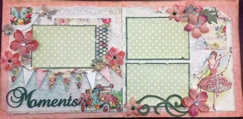 double layout scrapbook pages moments