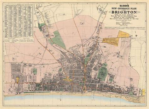 printable maps brighton brighton map old map of brighton print fine print