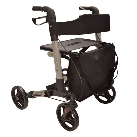 folding rollator walker with seat ec x cruise walker folding lightweight 4 wheel rollator