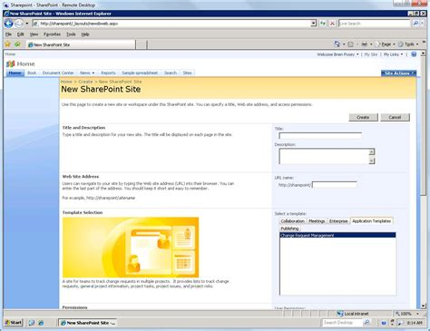edit sharepoint template change management template for sharepoint 2007