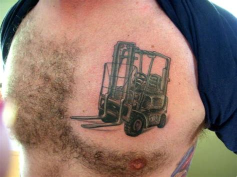 fork tattoo memorial forklift