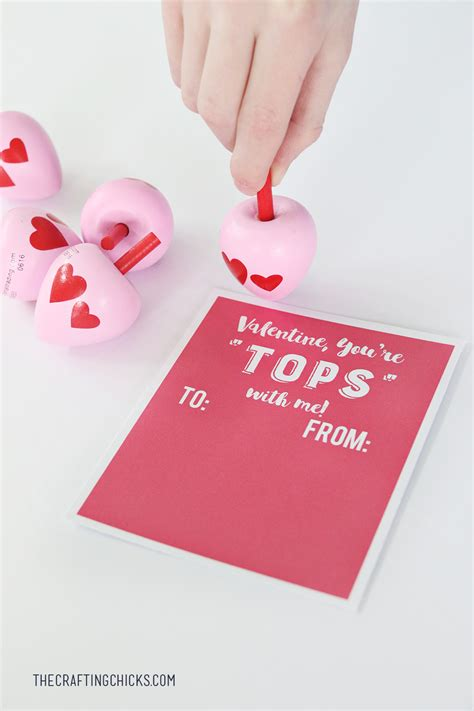 toys for valentines spinning top printable the crafting