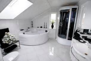 Modern White Bathroom Floor Tile Bathroom Flooring Ideas Bathroom Design Home Interiors