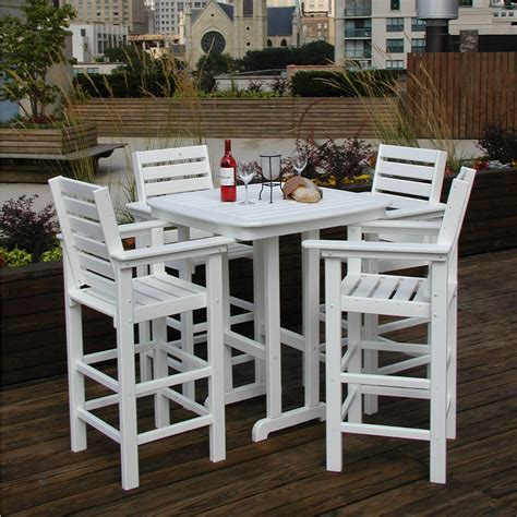 Patio Furniture High Top Table And Chairs   Marceladick.com