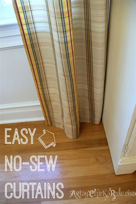 easy no sew curtains new dining chairs new quot no sew quot curtain panels artsy