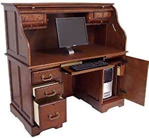 cherry roll top computer desk in stock