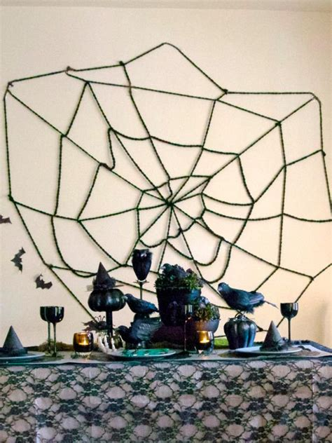How To Make A Large Spider Decoration by Diy Spider Web Decoration Diy
