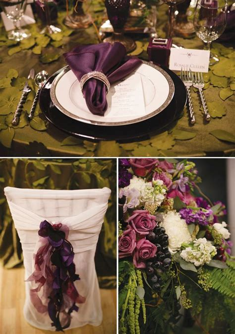 Twilight Inspired Wedding Tablescape   Twilight Fan