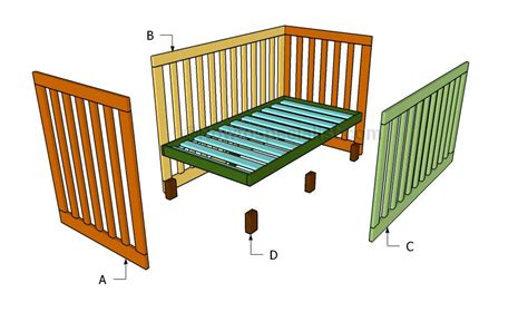 Blueprints For Baby Crib How To Build A Crib Howtospecialist How To Build Step By Step Diy Plans