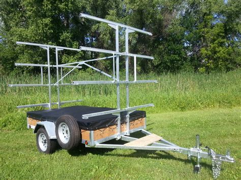 canoes trailers homemade canoe rack for trailer homemade ftempo