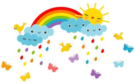 Wandtattoo Kinderzimmer Regenbogen by Wandsticker Kinderzimmer Lustige Sonne Regenbogen