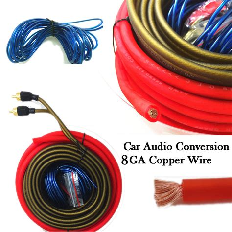 car audio power wire car audio wire kit 8ga power cable fuse holder subwoofer