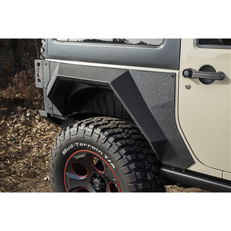 Jeep Fender Armor Rugged Ridge 11615 03 Xhd Rear Armor Fenders Pair 2 Door