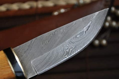 Used Kitchen Knives For Sale bushcraft knife handmade damascus steel quality