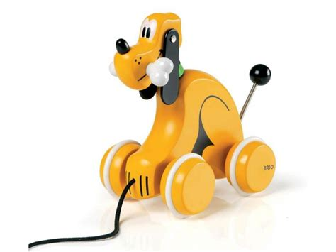 brio dog brio disney pull along pluto dog 32236 table mountain toys