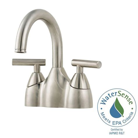 pfister contempra centerset bathroom faucet brushed nickel