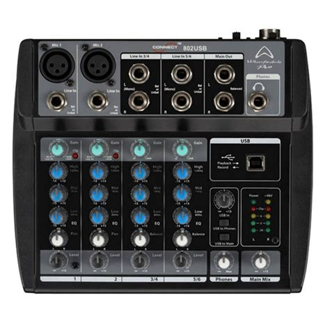 Mixer Wharfedale wharfedale pro connect 802 usb mixers