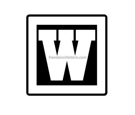 block letter w print w letter stencil free stencil letters