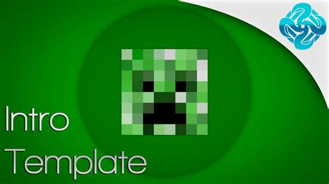 2d minecraft creeper intro template movie maker youtube